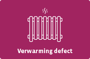 Verwarming defect